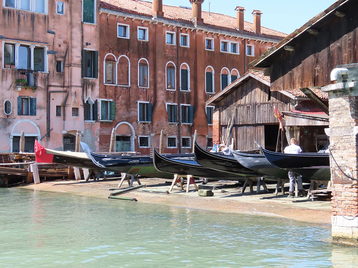 Gondola yard on the Venice & Its Lagoon itinerary