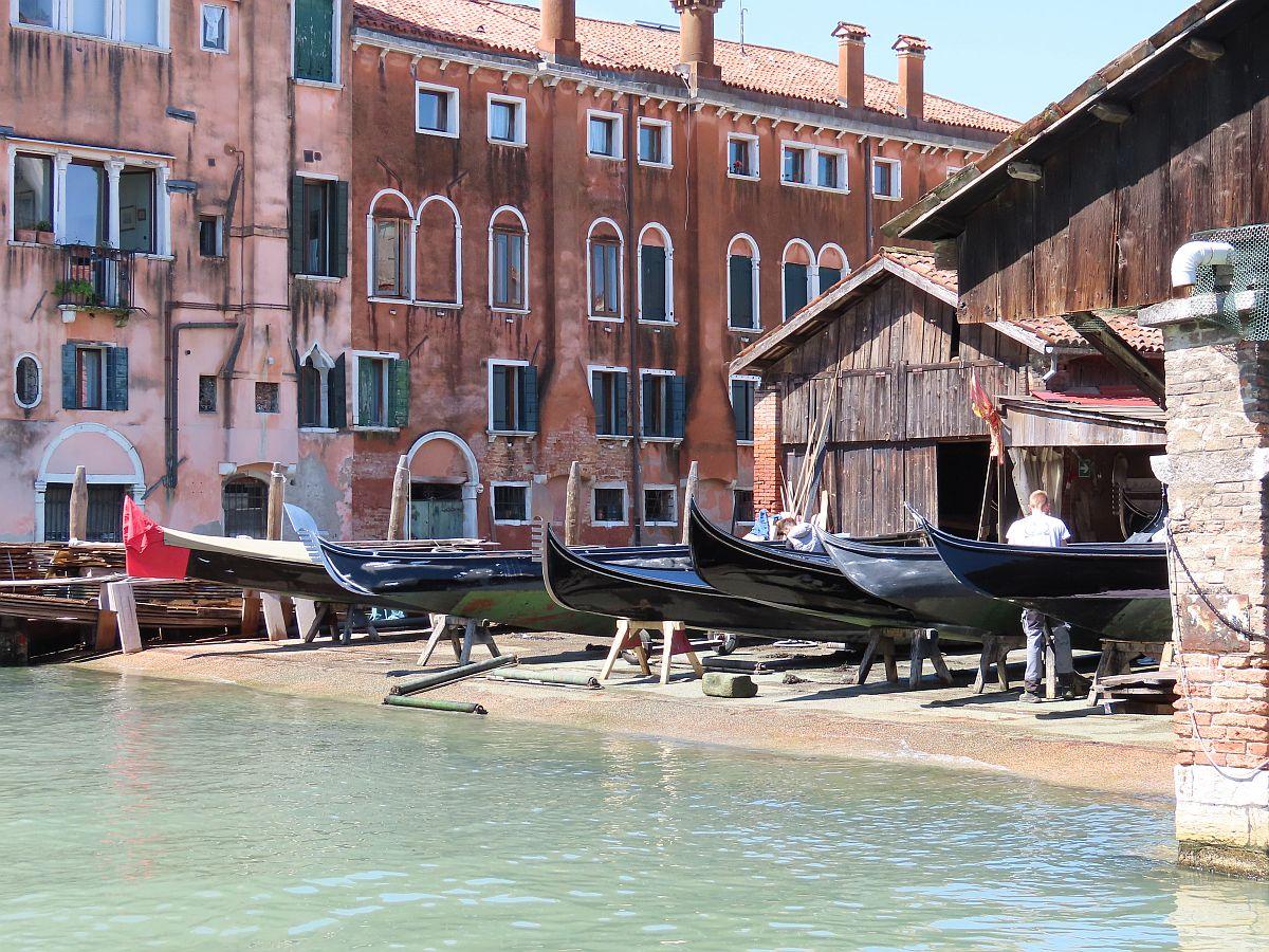 Gondola yard on the Venice & Its Lagoon itinerary