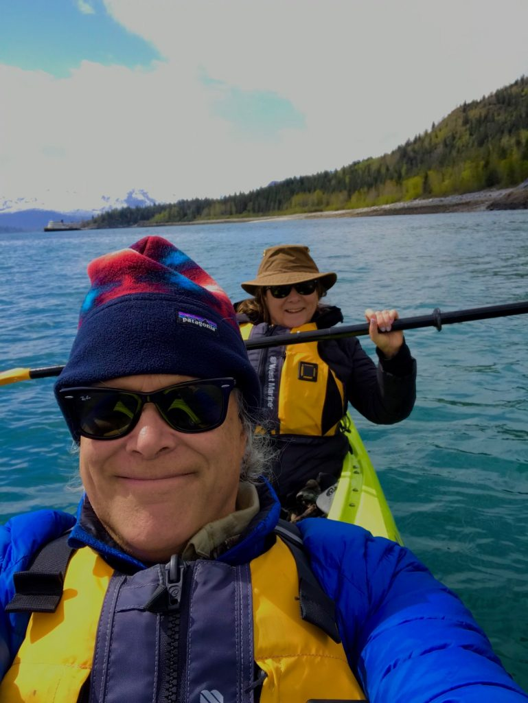Judi and Lawrence in a Kayak