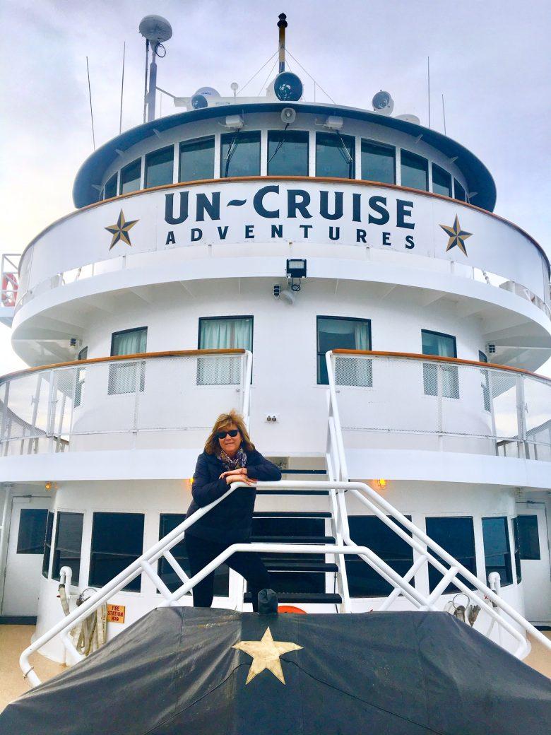 Alaska cruise writer Judi Cohen aboard UnCruise's Legacy