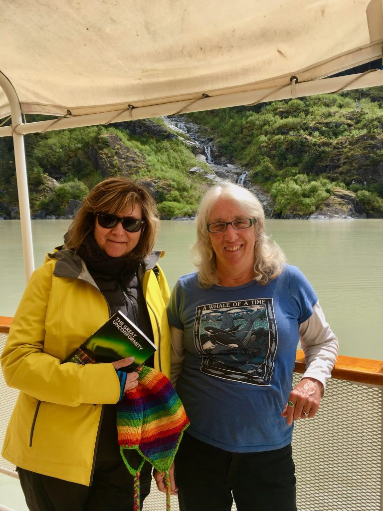 Alaska cruise with UnCruise lecturer Kate Judi with Kate