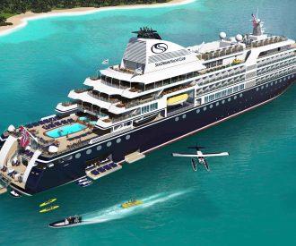 new SeaDream Innovation will have three marinas