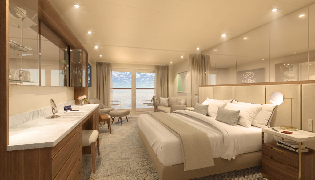 The new SeaDream Innovation will have stylish suites with Scandinavian decor