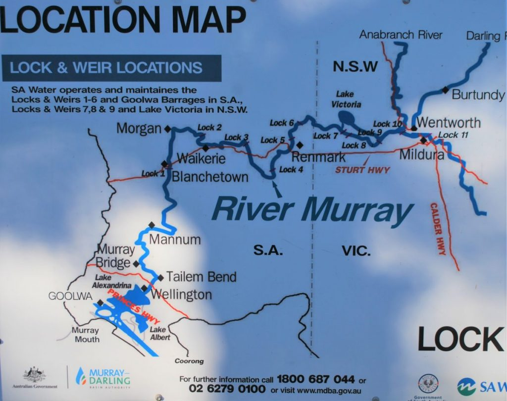 Murray River Steamboat Cruise map
