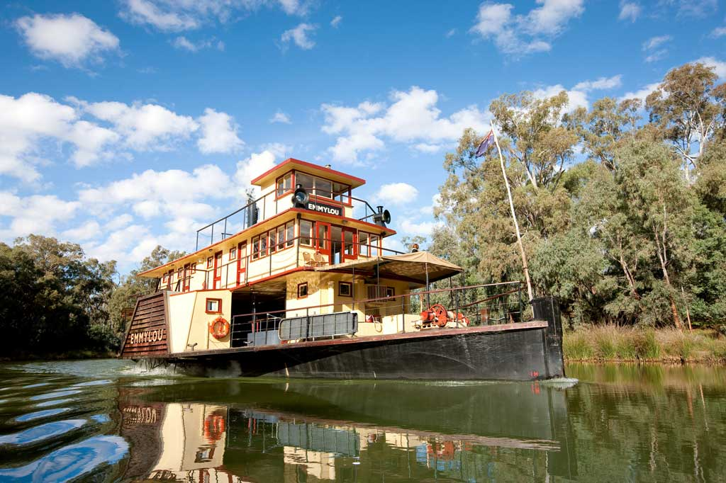 The Emmylou plies the Murray River.