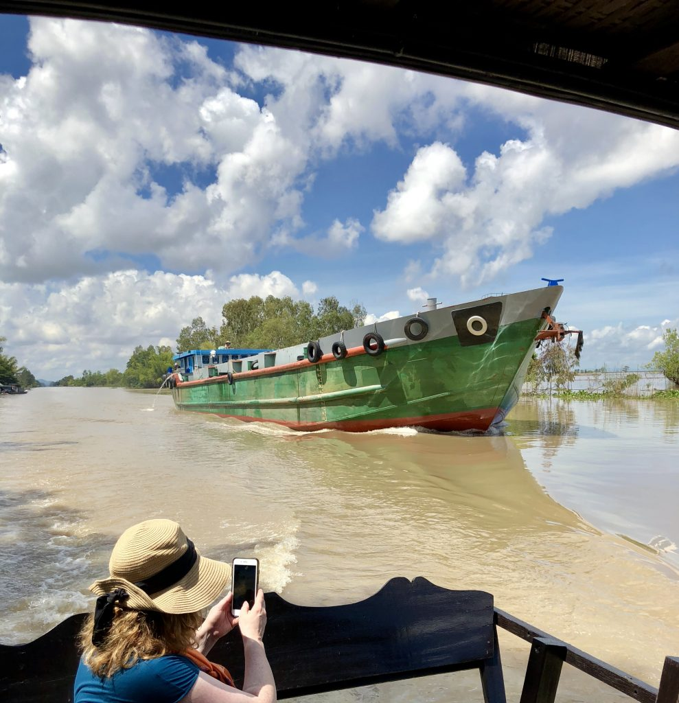 sampan excursions on a Mekong River cruise