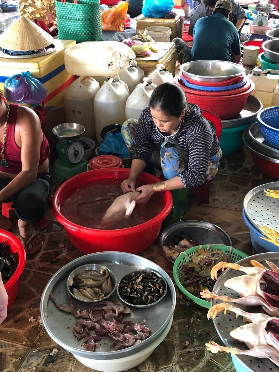 wet market in Cambodia