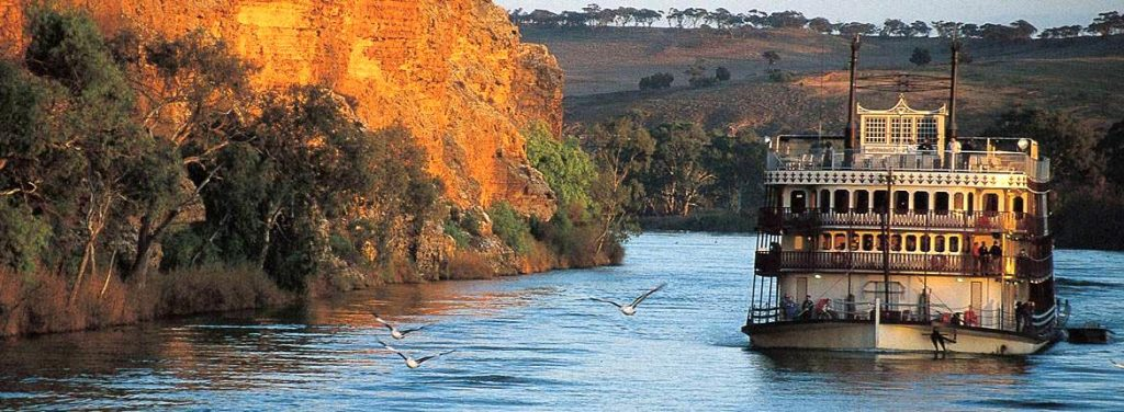 The scenic Murray River.
