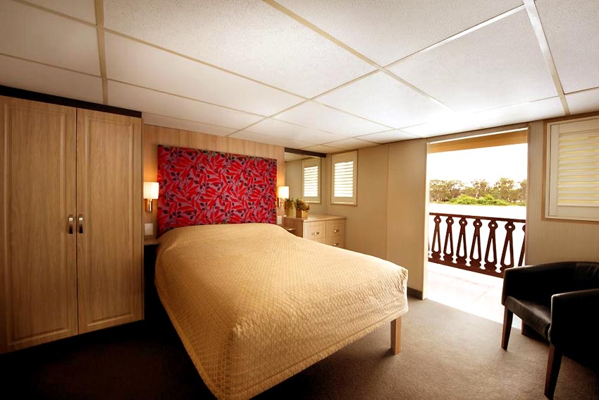 A cabin on the Murray Princess.