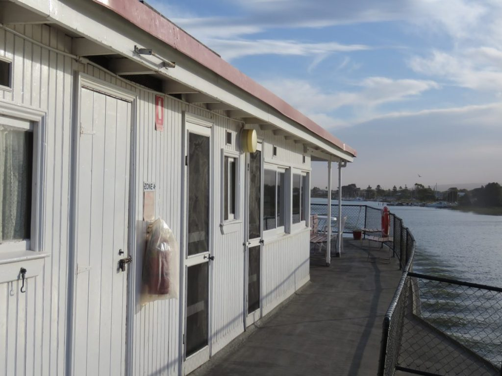 The outside decks of the historic Marion, a Murray River Steamboat Cruise