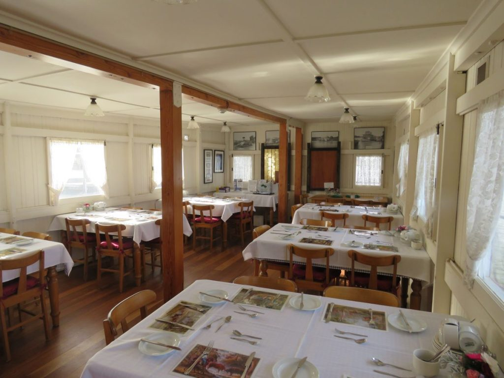 Dining room on a Murray River Steamboat Cruise