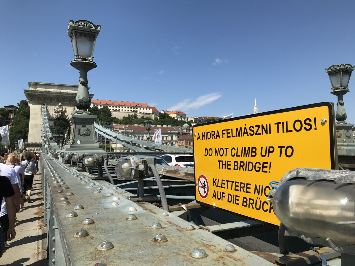 Budapest's Chain Bridge on a Danube River cruise