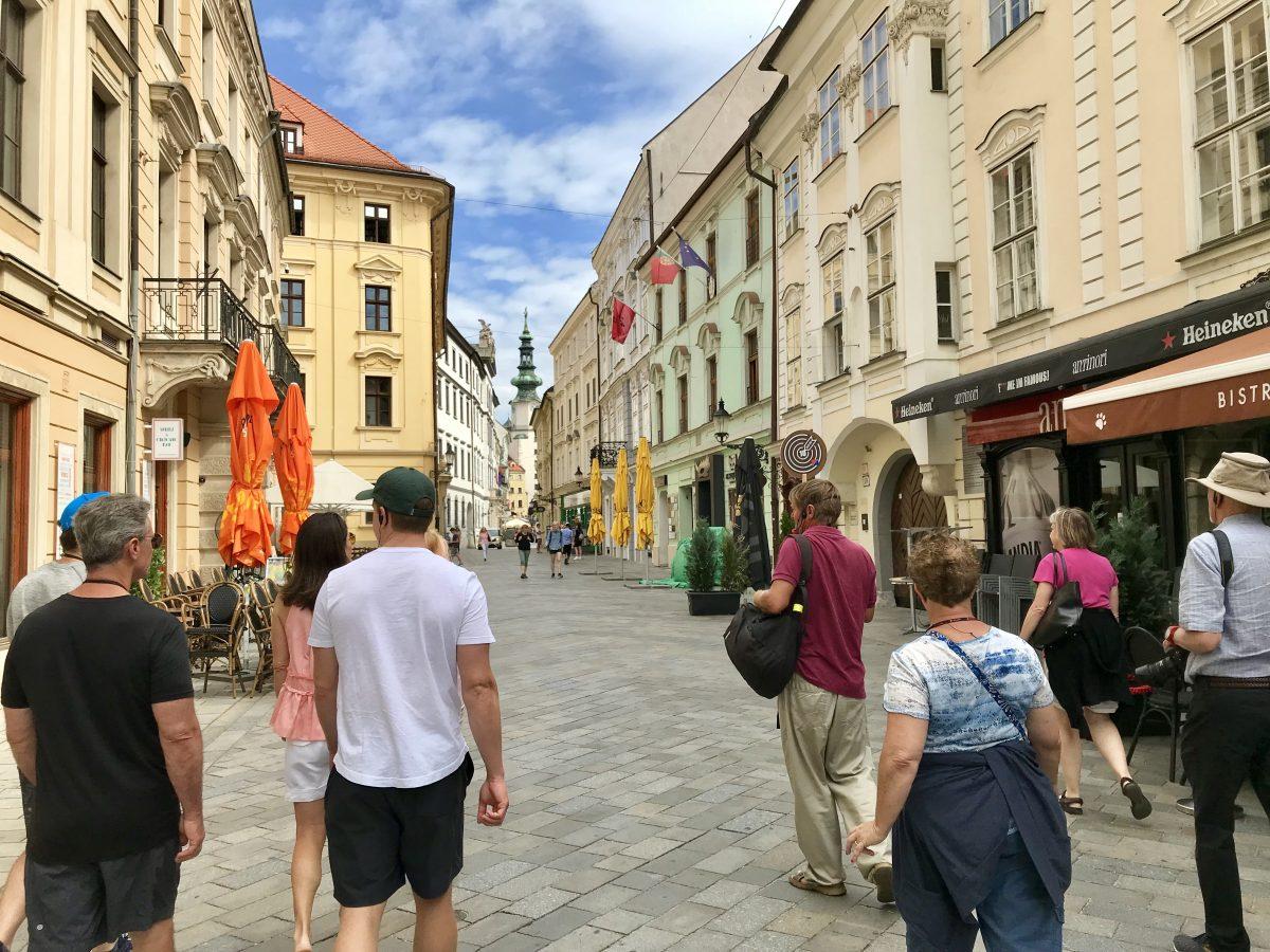 Bratislava's cute old town.