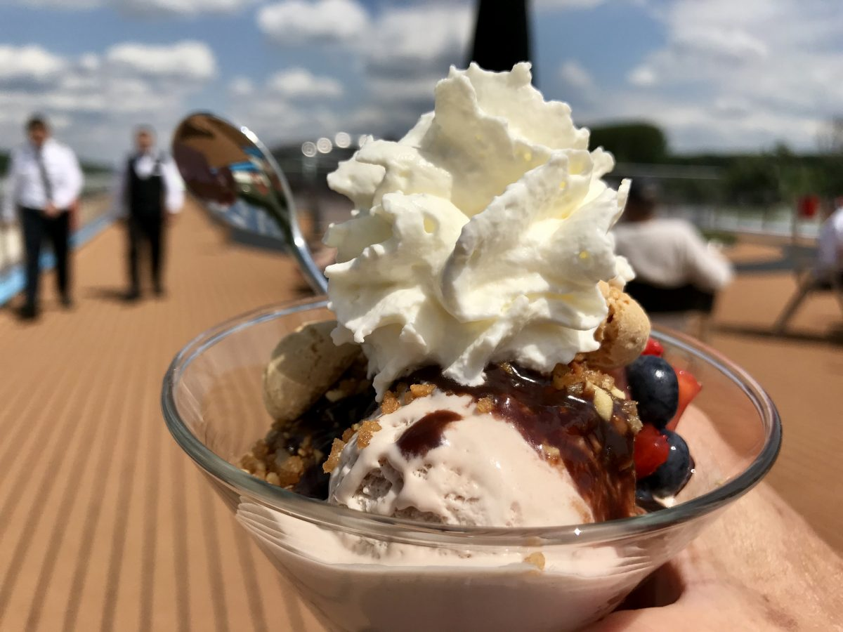 Ice cream on Ama Magna deck