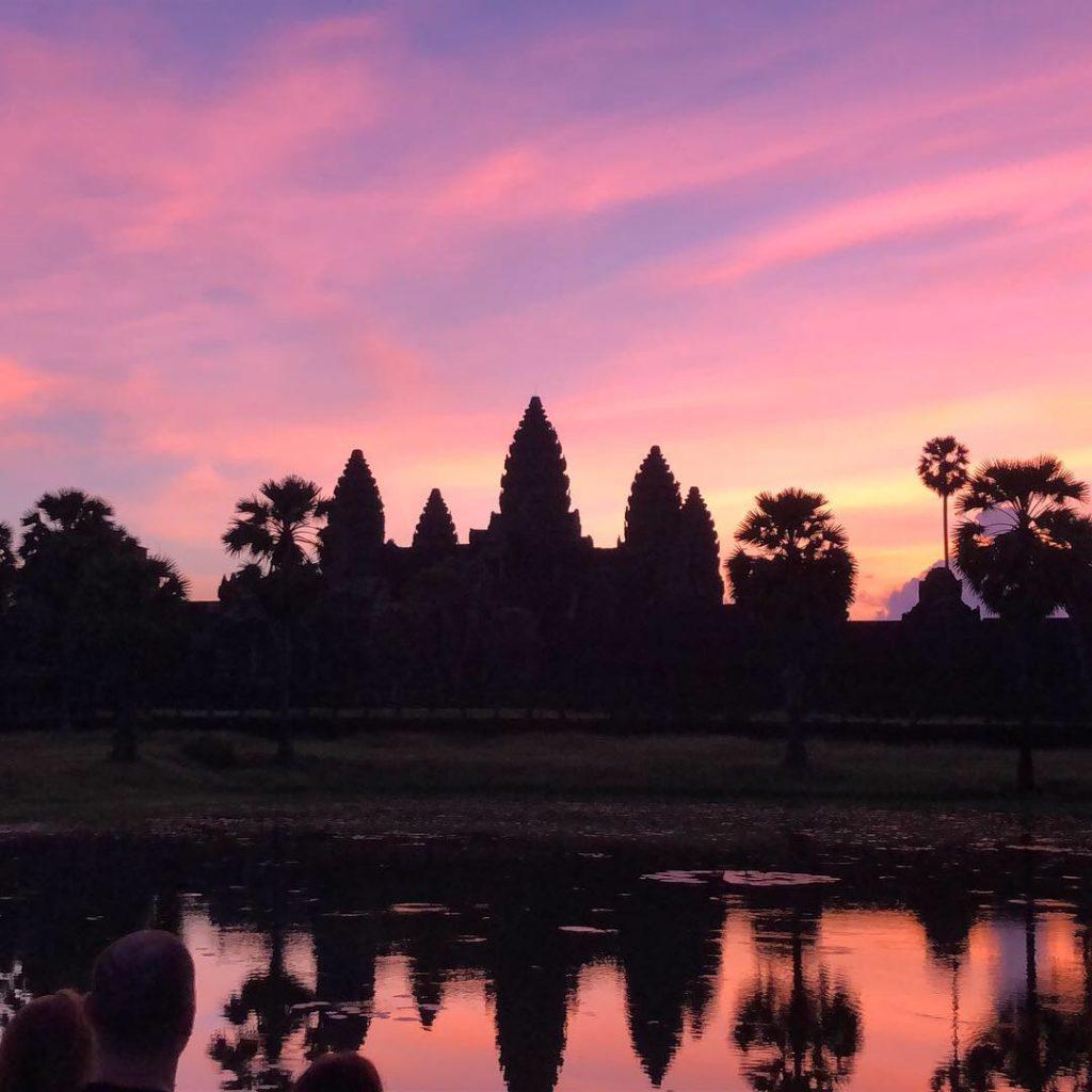 Angkor Wat at Sunrise on a Mekong River cruise