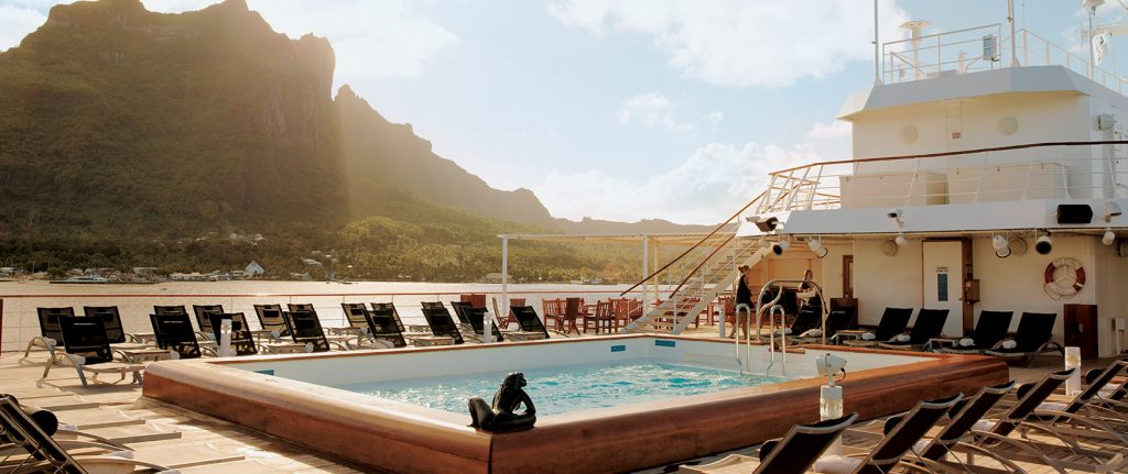 pool deck on the Paul Gauguin
