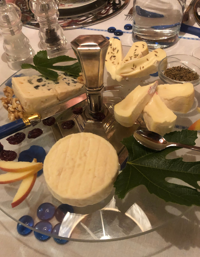 French Cheese Plate with caraway seeds and apples - Canal du Midi Luxury Barge Cruise