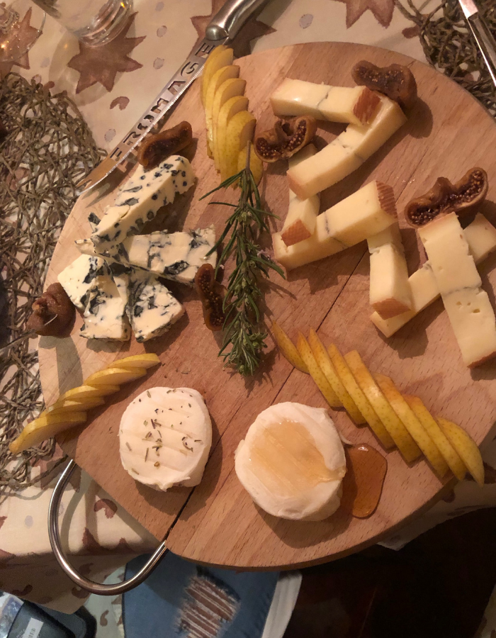A selection of French cheese with honey and rosemary - Canal du Midi Luxury Barge Cruise