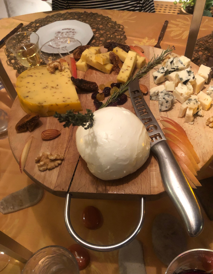 French cheese plate from Narbonne - Canal du Midi Luxury Barge Cruise