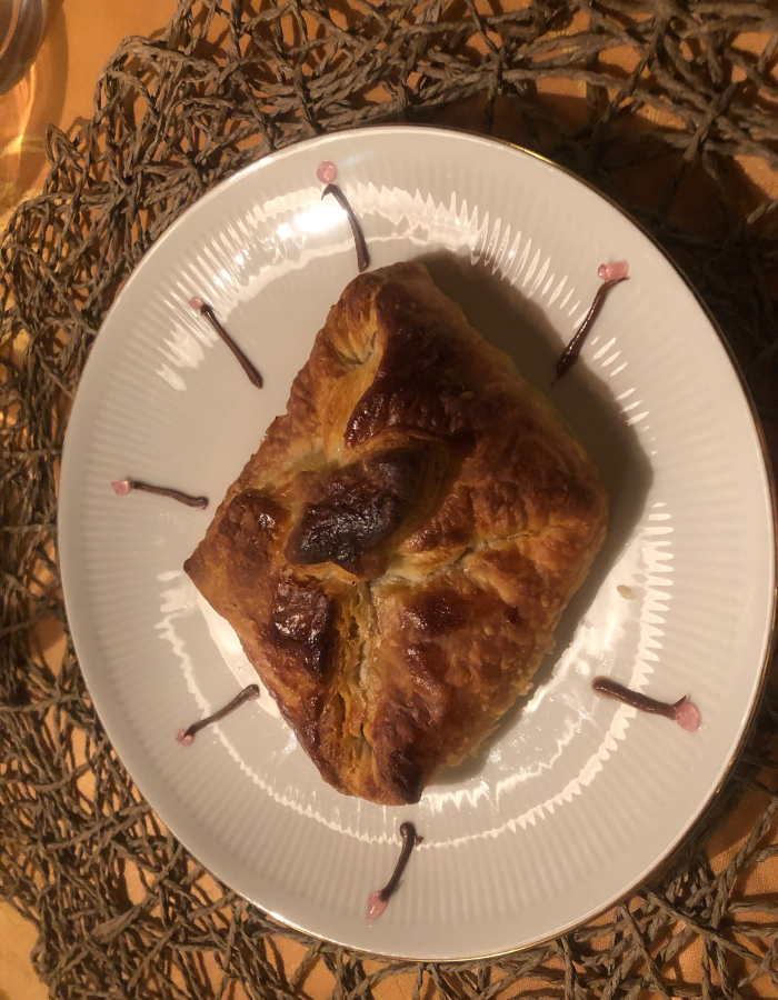 Puff pastry with mango filling - Canal du Midi Luxury Barge Cruise