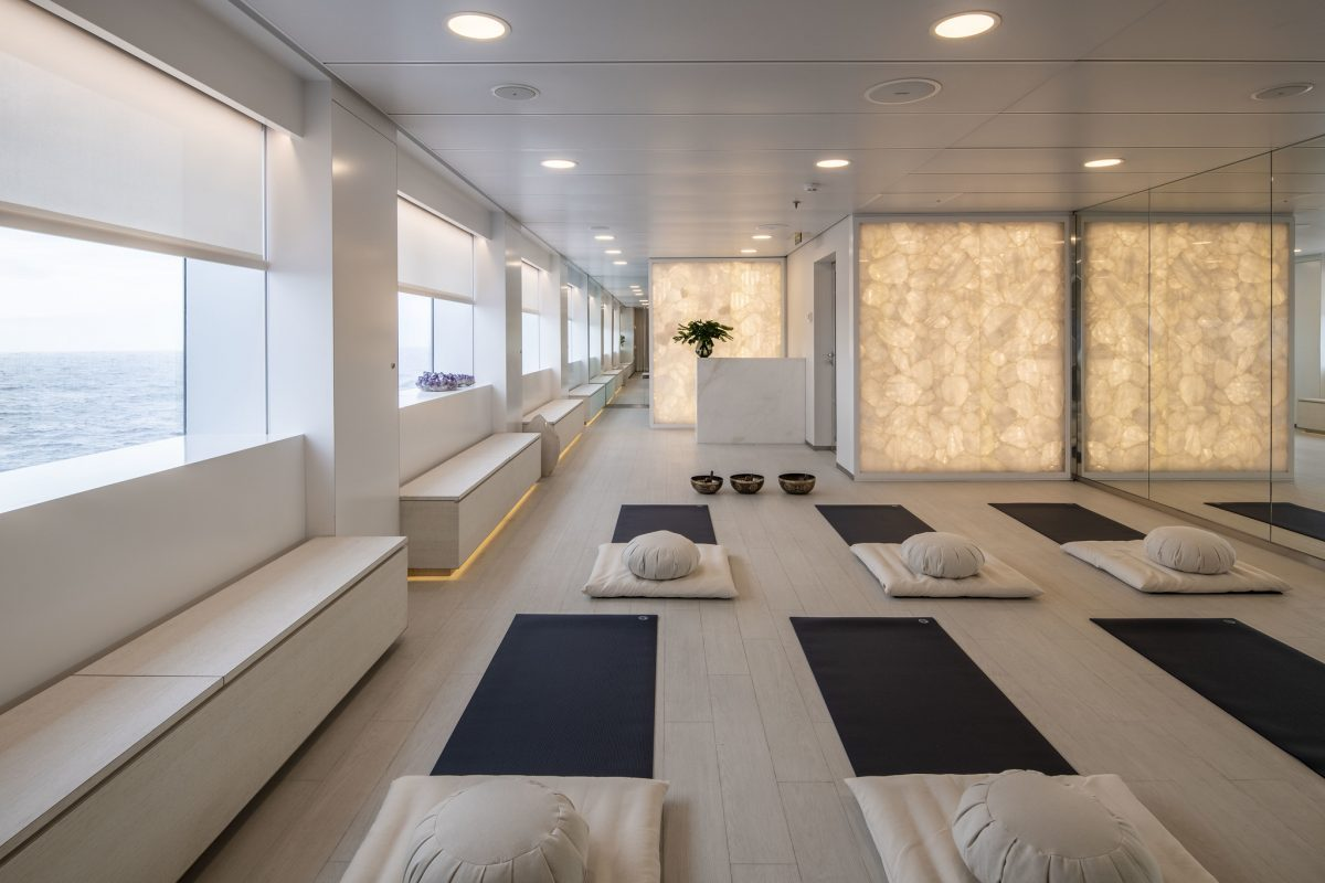 Yoga and pilates studio aboard the new Scenic Eclipse