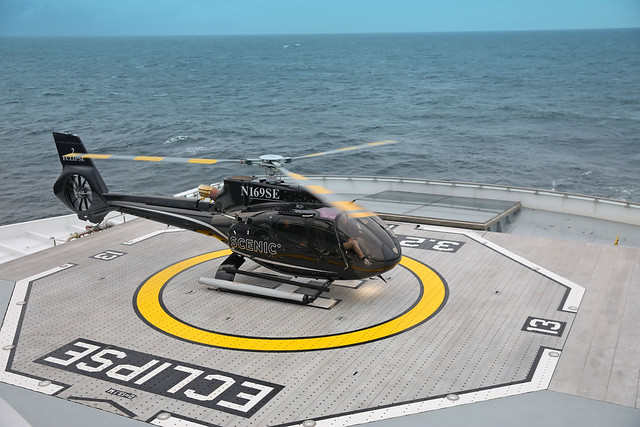 The new Scenic Eclipse has a heli pad