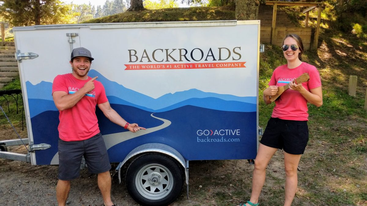 Backroads support van for a New Zealand Cruise