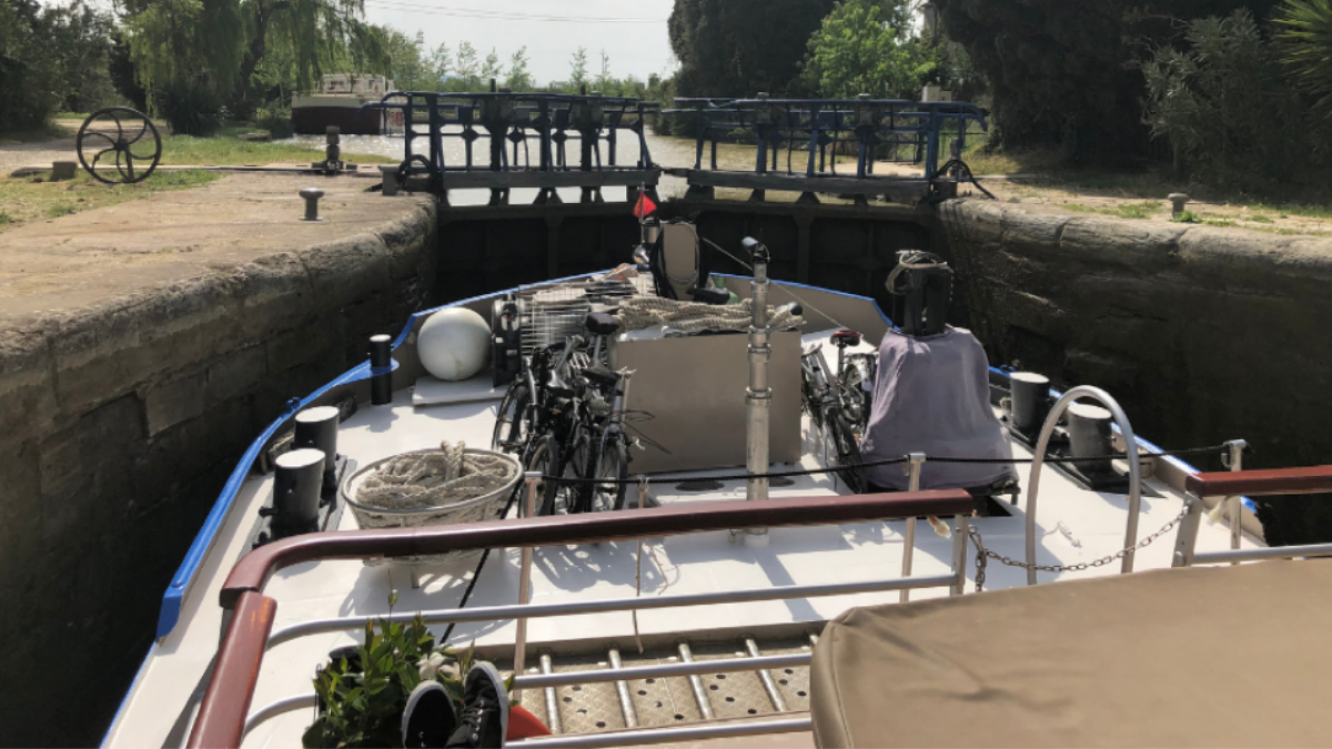 The Canal du Midi locks