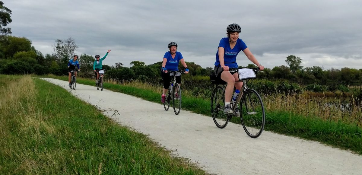 cycling in Napier on a new zealand cruise