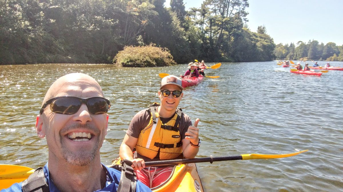 Kayaking in gorgeous Tauranga on a New Zealand cruise