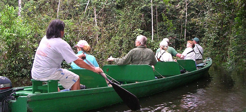 a launch on an Amazon river cruise