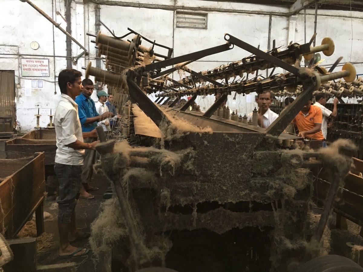 Jute factory in India