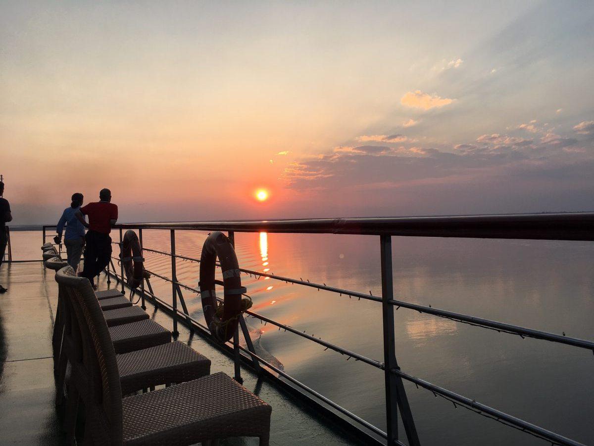 Sunset over the Brahmaputra