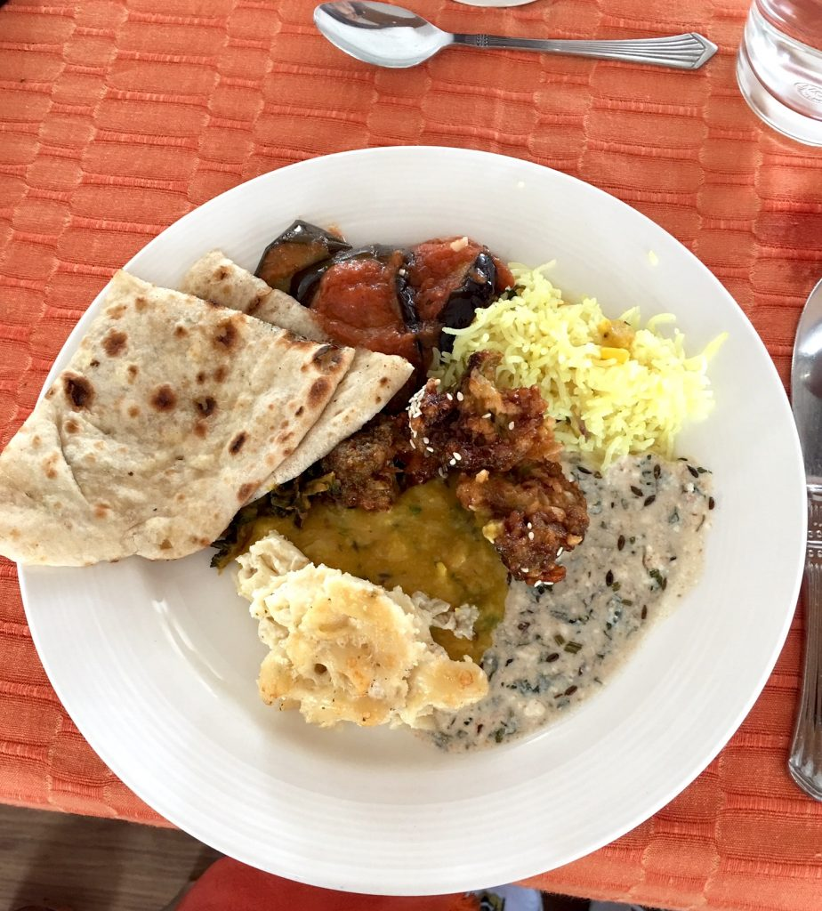 Indian food on Mahabaahu