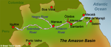 The Amazon & Rio Negro map