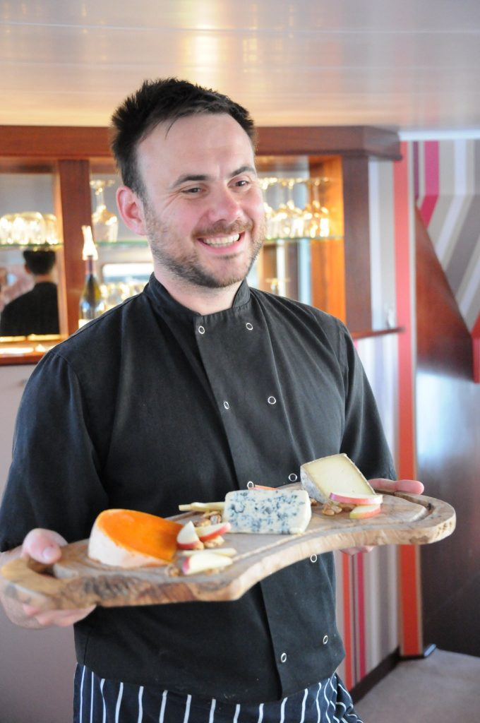 French cheese on French barge cruises aboard the Grand Victoria