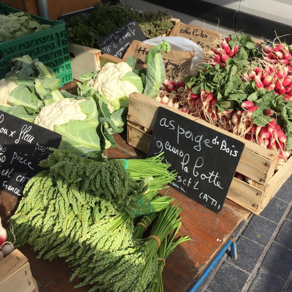 fresh produce in port in Chalon