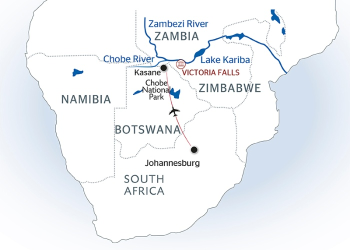 Africa River Cruises map