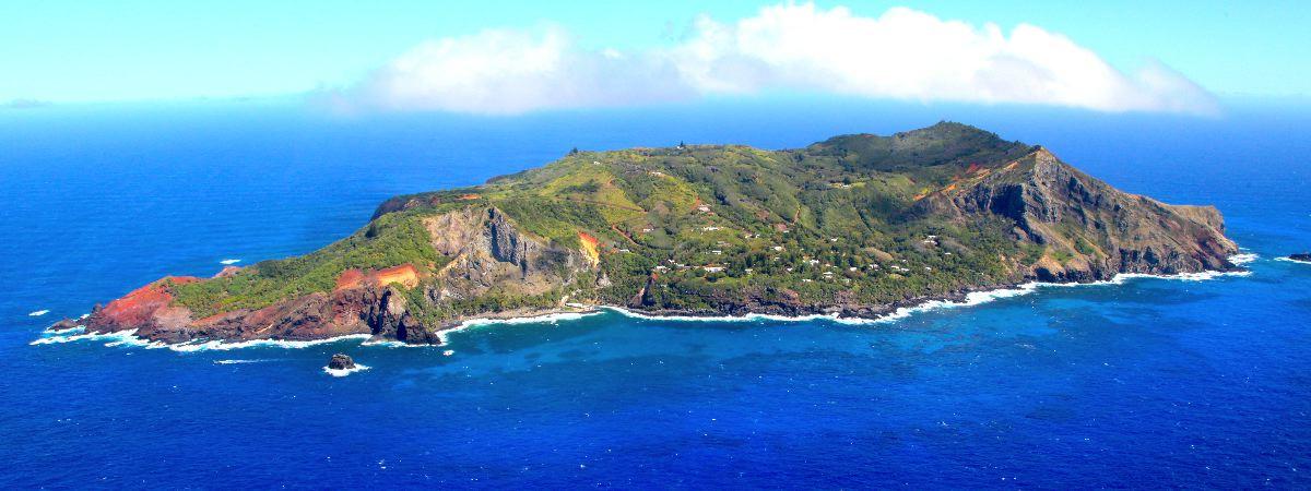 rugged Pitcairn Island
