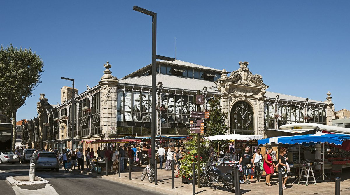 Narbonne Market Hall on a French canal cruise
