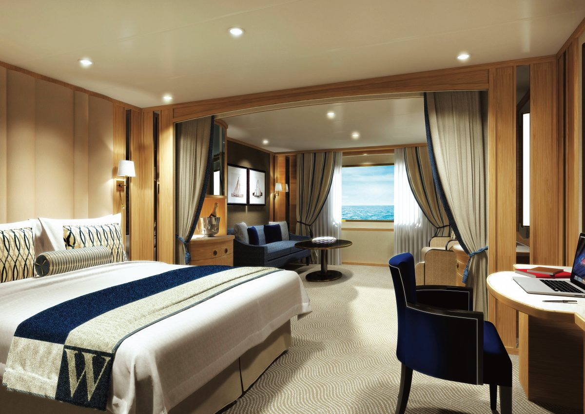 oceanview suite on stretched Windstar Ship