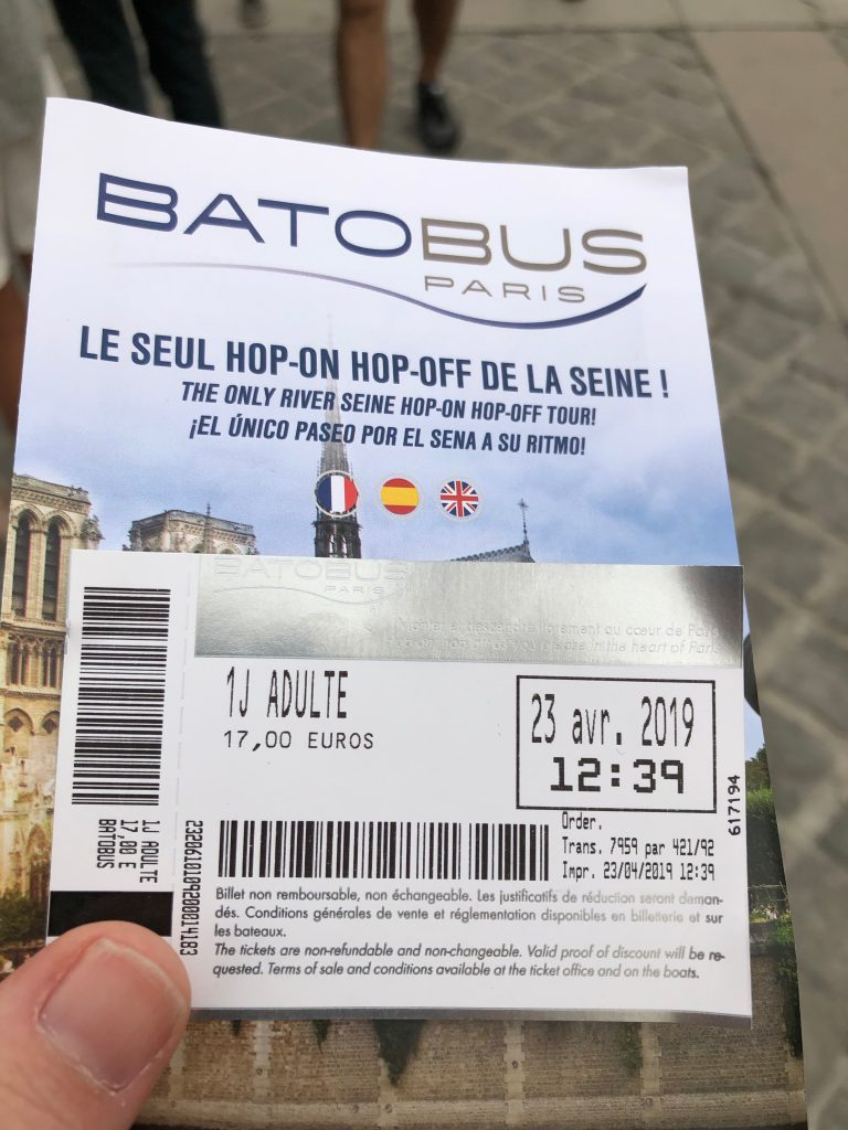 Batobus Tickets Paris France