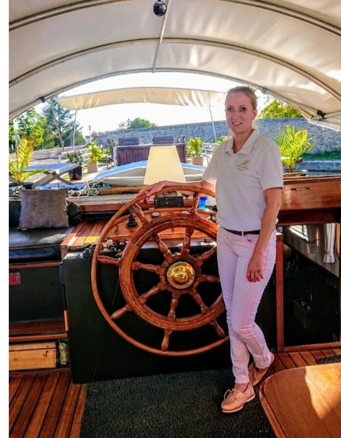 French Barge Cruise - Helen Toy, Stewardess and Deckhand