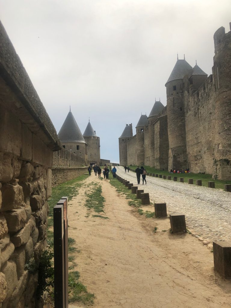 Citadel of Carcasonne - historic walls