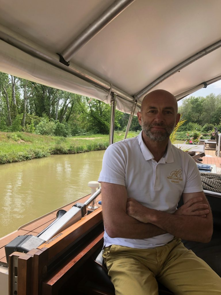 French canal cruising - Esperance owner Mathias Giles