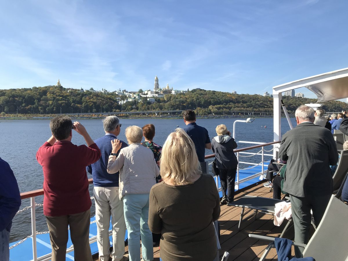 Approaching Kiev aboard the Viking Sireus