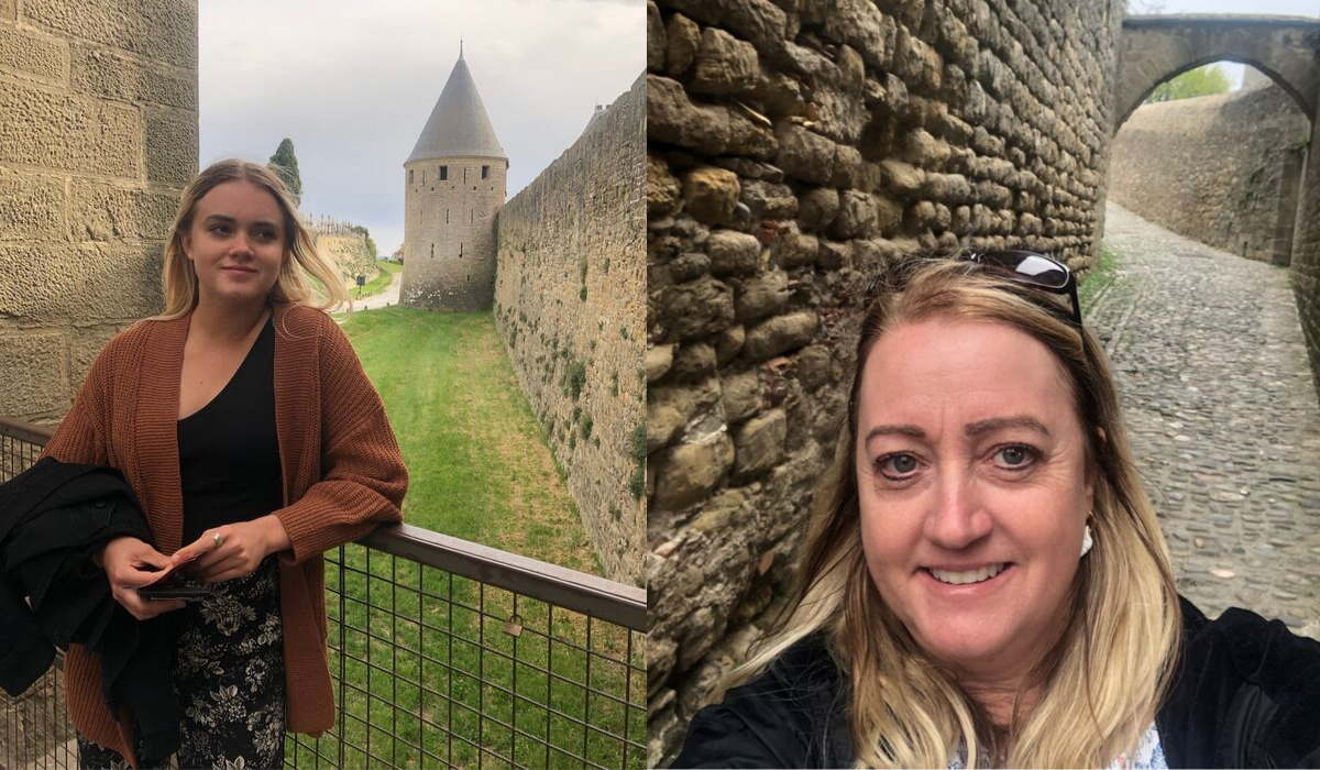 Exploring the citadel of Carcasonne, southern France