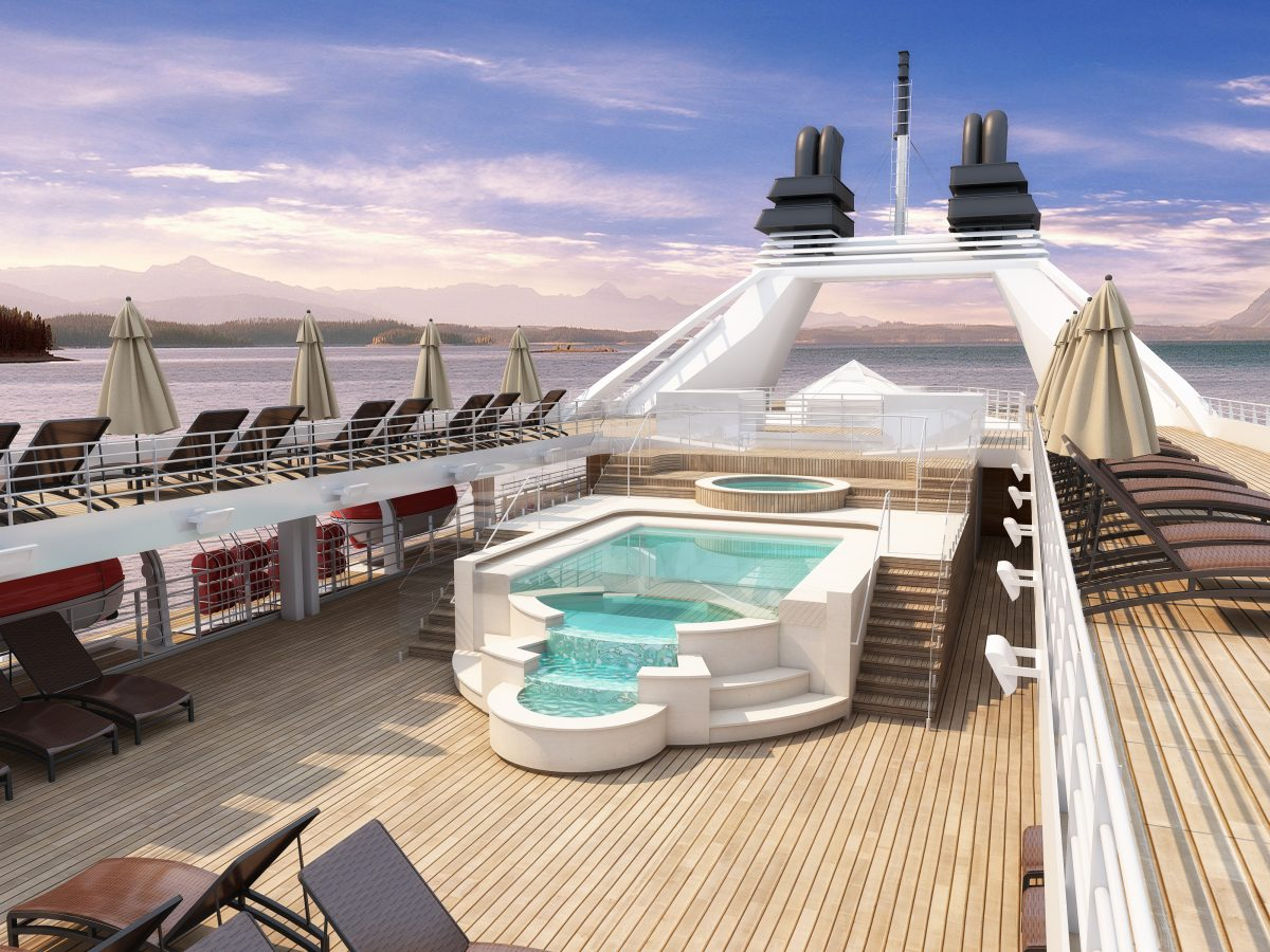 pool area on stretched Windstar ship
