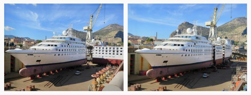 Windstar ship stretching photo