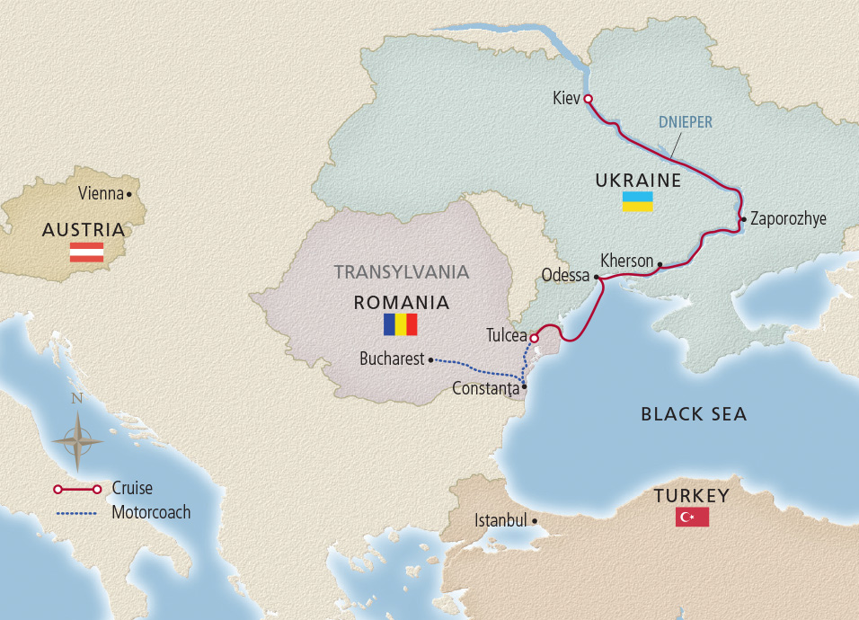 Viking River Cruise Ukraine itinerary